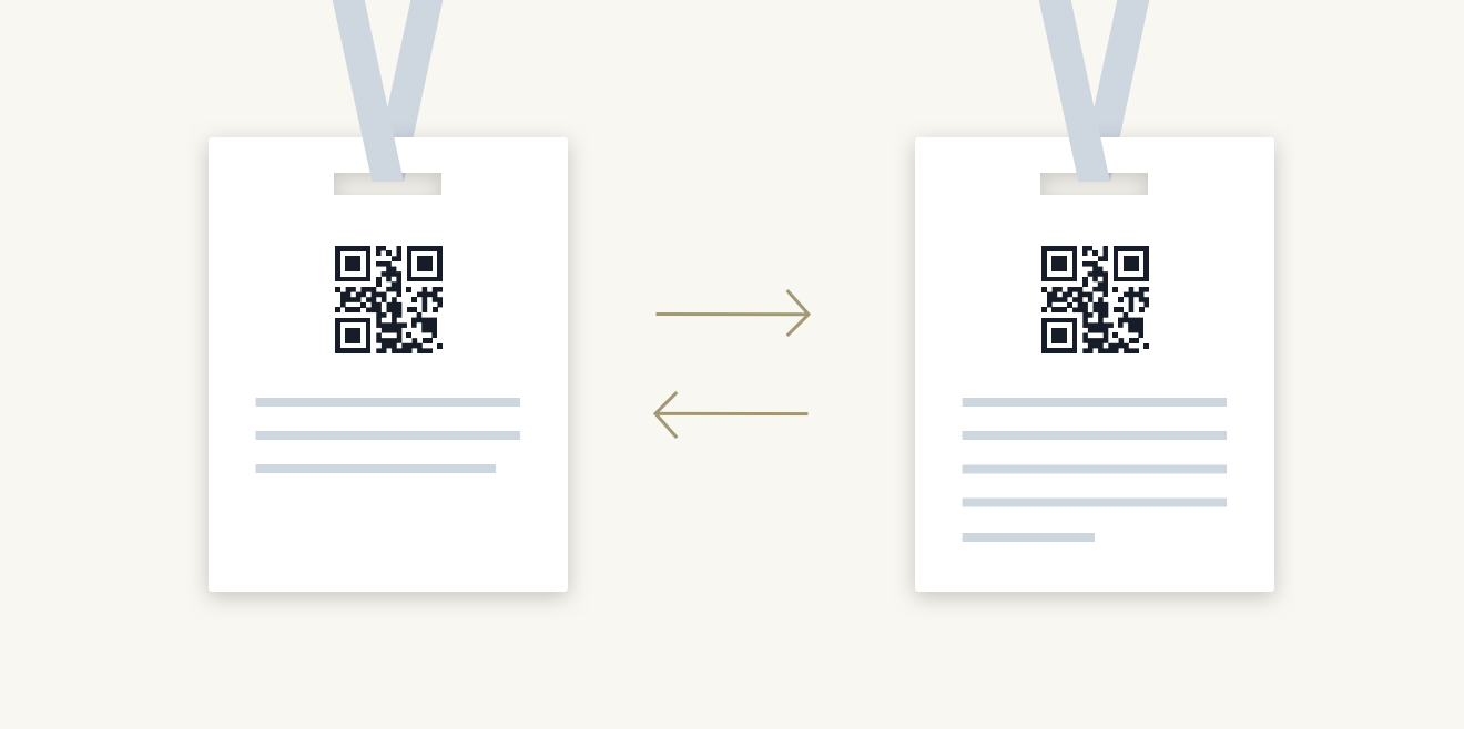 QR codes help attendees exchange contact information